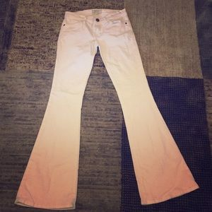 Current Elliott Low Bell Jeans in White